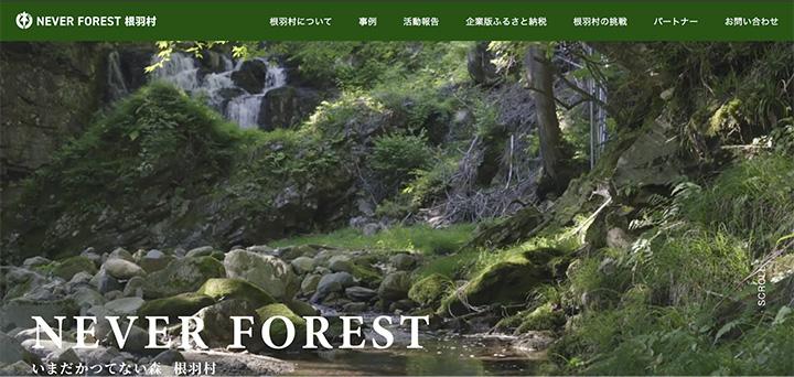 源流の水を守る挑戦 SDGsポータルサイトオープン 長野県根羽村