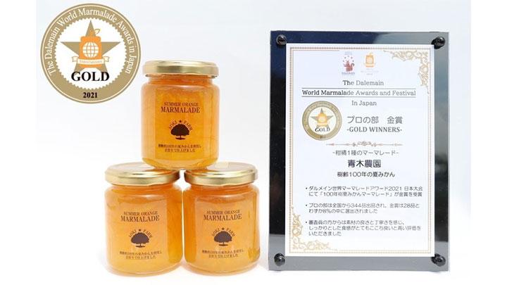 第3回ダルメイン世界マーマレードアワード日本大会 プロの部 金賞