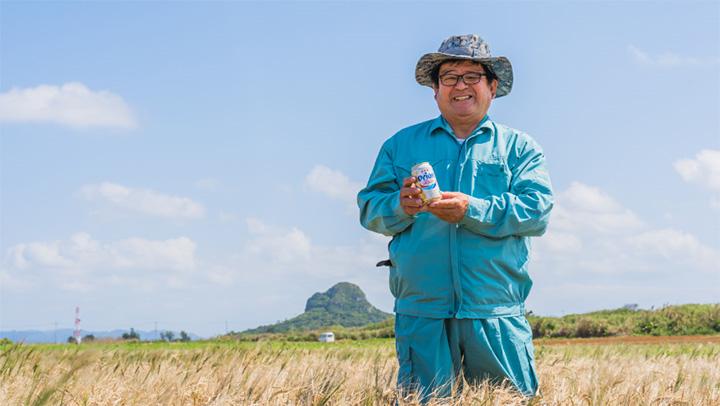伊江島産大麦の生産者