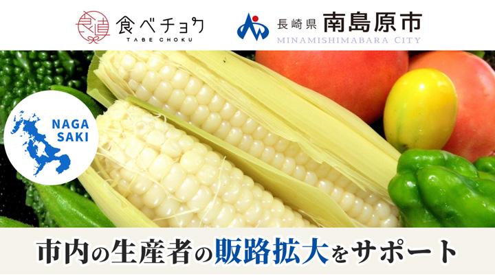 長崎県南島原市と連携 農水産物の出品と販促をサポート 生産者募集中 食べチョク