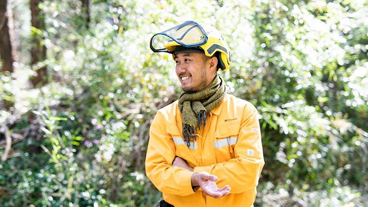 森をつくるキコリとして林業に取り組むソマウッドの久米歩社長