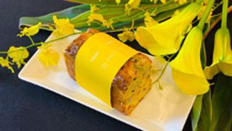 廃棄予定の野菜を活用した「ケーク サレ」