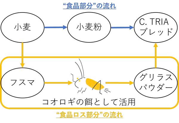 「C. TRIA ブレッド」生産過程イメージ