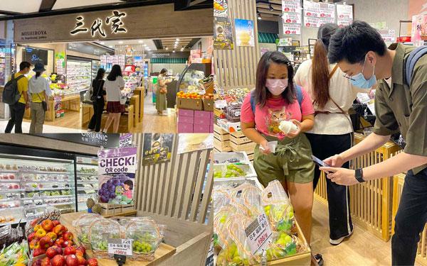 香港店舗「三代家」での販売の様子