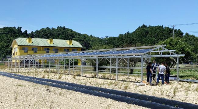 千葉県睦沢町に建設中のソーラーハウス