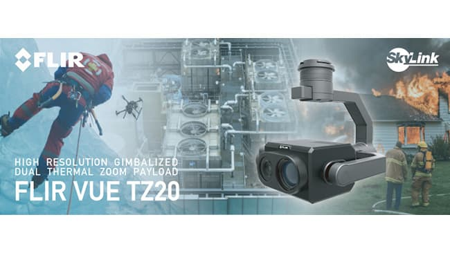 DJI製ドローン対応のデュアル赤外線ズームカメラ「FLIR Vue TZ20」を販売開始 SkyLink Japan