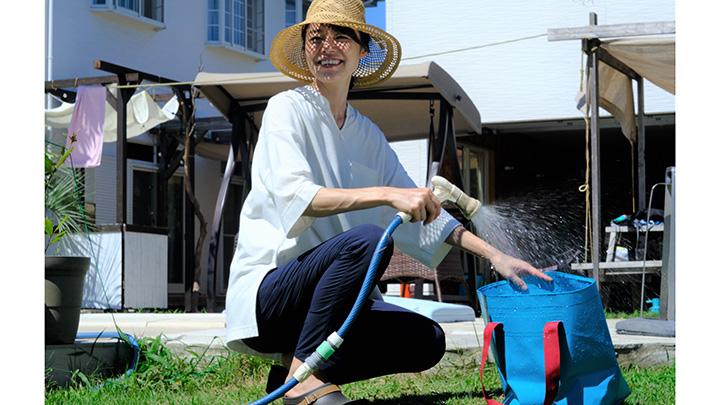 ザブザブと水洗いできるトートバッグ