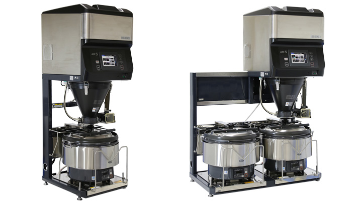 AR455(1釜仕様)(左)、AR555(2釜仕様)