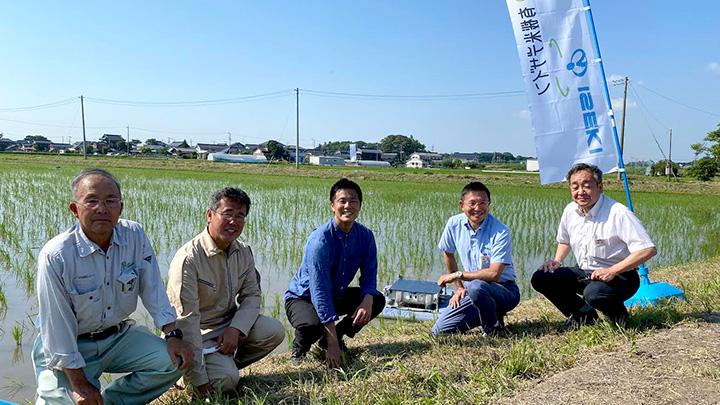 業務提携をする井関農機と有機米デザインの関係者