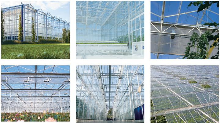 GAKON社が供給する農業用ガラスハウス