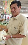 「生産者は日々が学習です」という砂川寛裕さん