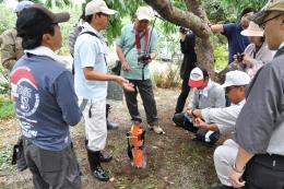 汚染マップ作製のための土壌調査