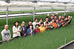 頑張る若い担い手(JA広島北部のグリーンカルチャーのメンバー)