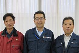 左から島田さん、根本組合長、橋本常務