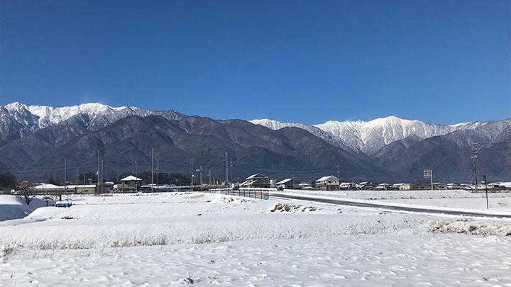 標高約650メートルの高地気候に恵まれたアルプスが2つ見える農園